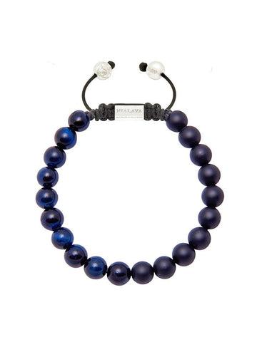 Men's Bracelet With Blue Tiger Eye - Nialaya Jewelry