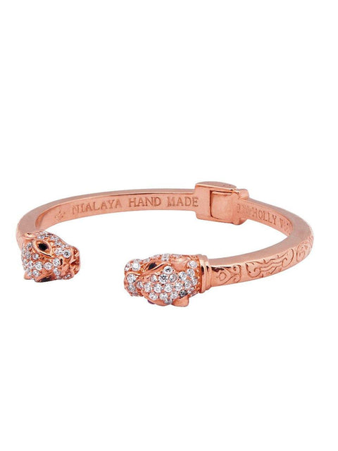 Women's Panther Bangle in Rose Gold - Nialaya Jewelry  - 1