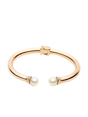 Skyfall Pearl Bangle - Nialaya Jewelry  - 1