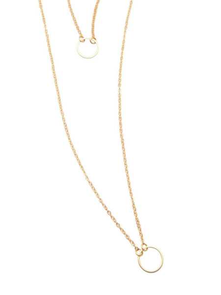 Skyfall Gold Loop Necklace - Nialaya Jewelry  - 1