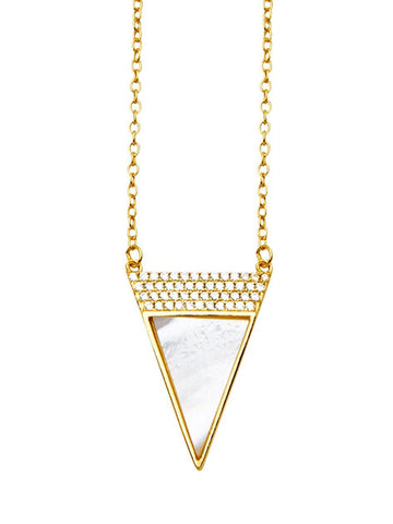 Gold Necklace With CZs