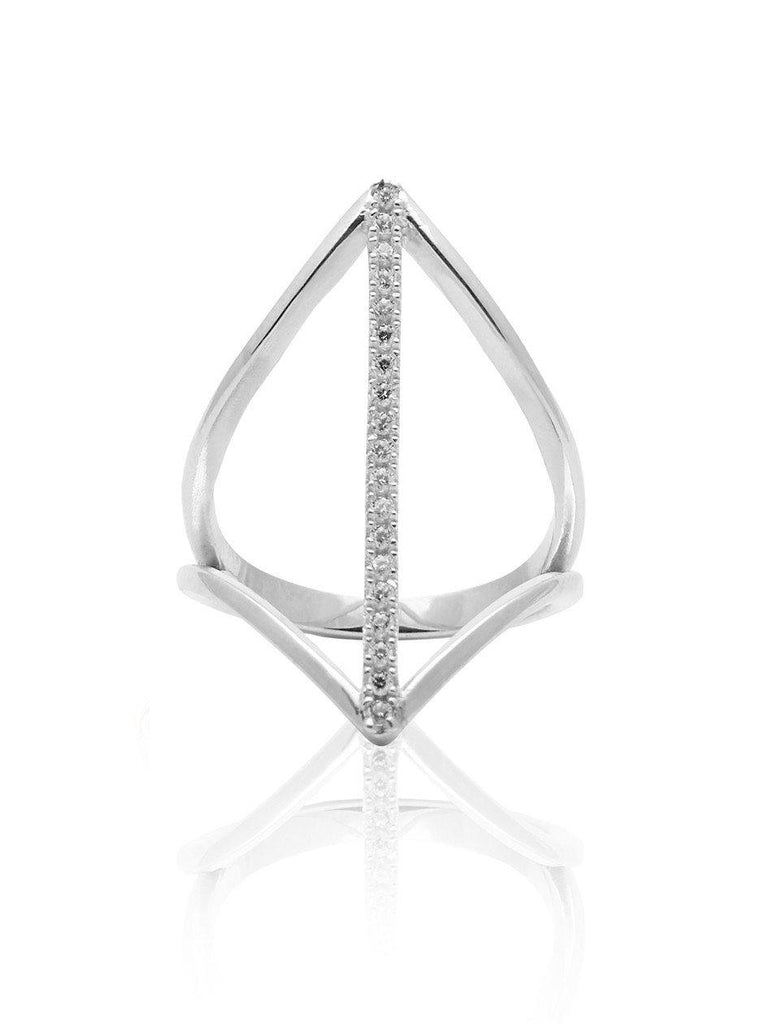 Vertical Bar Ring in Silver - Nialaya Jewelry  - 1