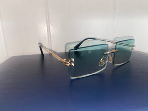 Blue Frameless Eye Protectors