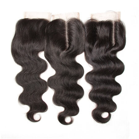 Medium Brown Swiss Lace Closure