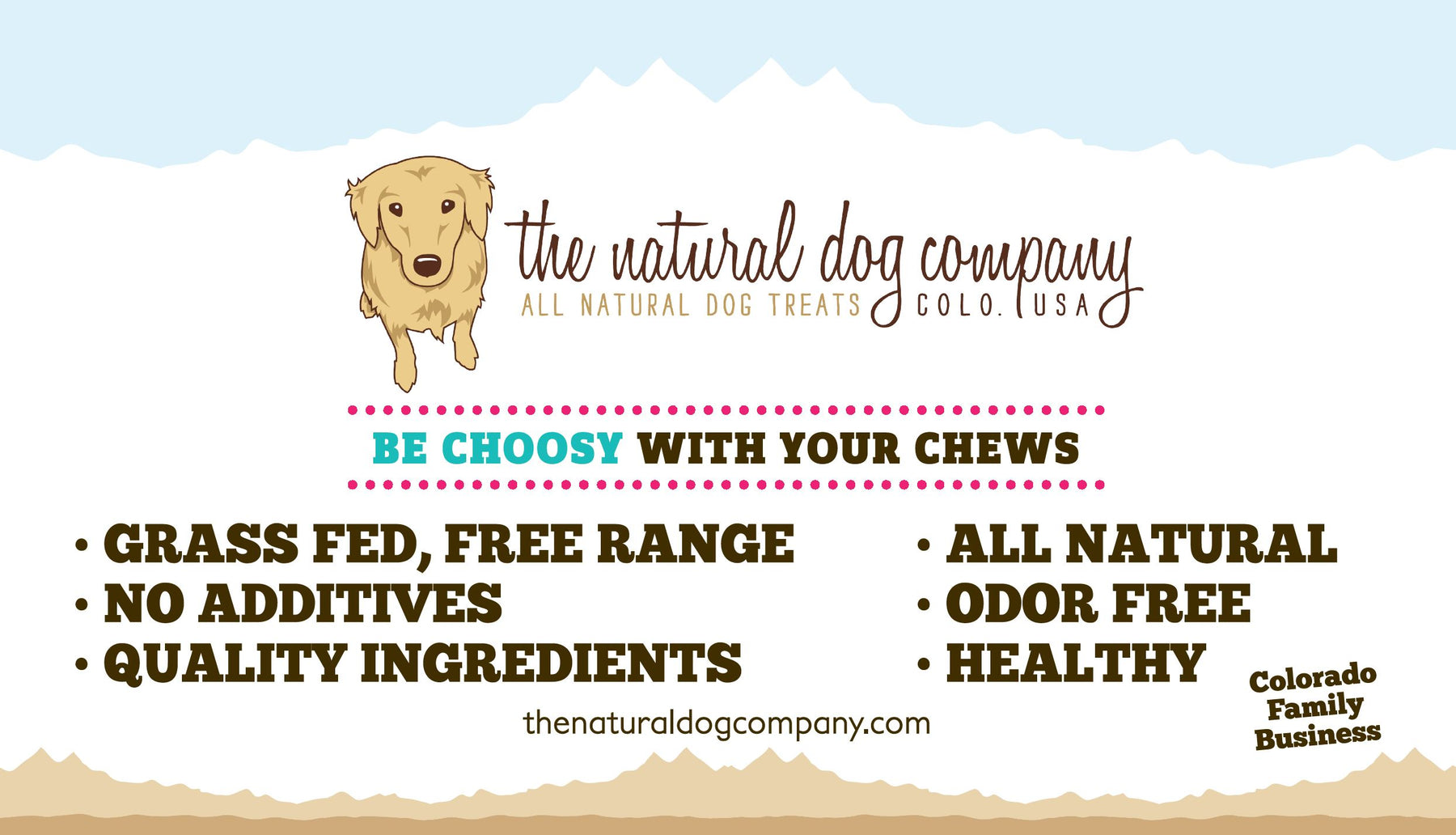 "14""x8"" Signs are available for retailers of The Natural Dog Company!"