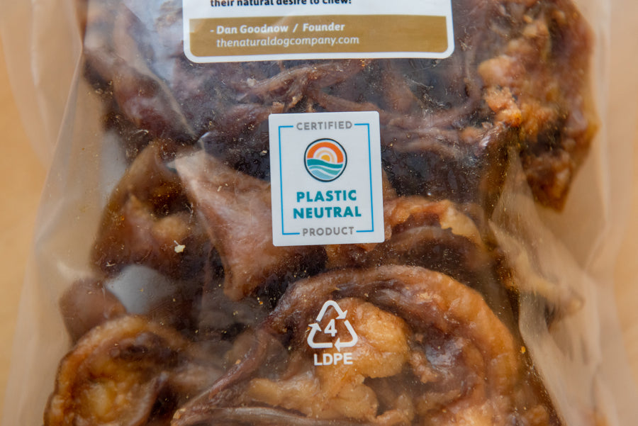 The Natural Dog Company is a Plastic Neutral Certified company!