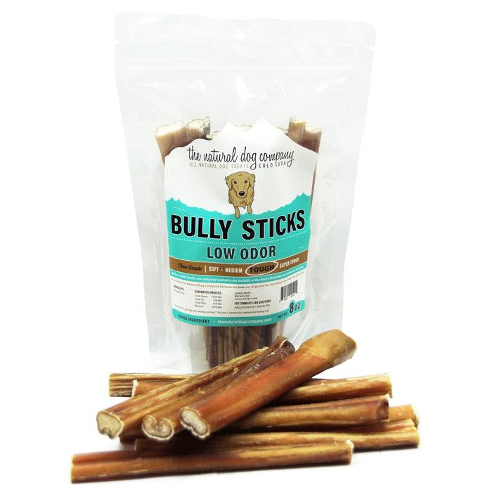 "6"" Bully Sticks - Natural Scent - 8 oz"