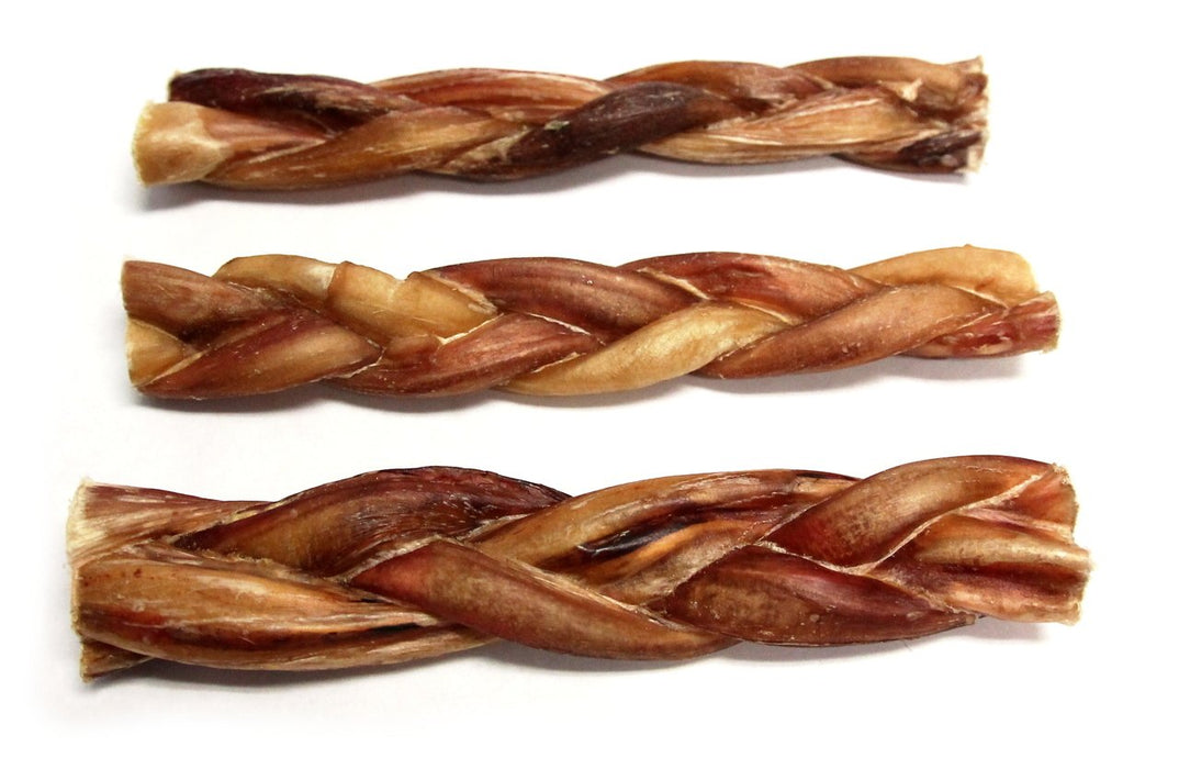 "6"" Skinny Braided Bully Stick-Odor Free"