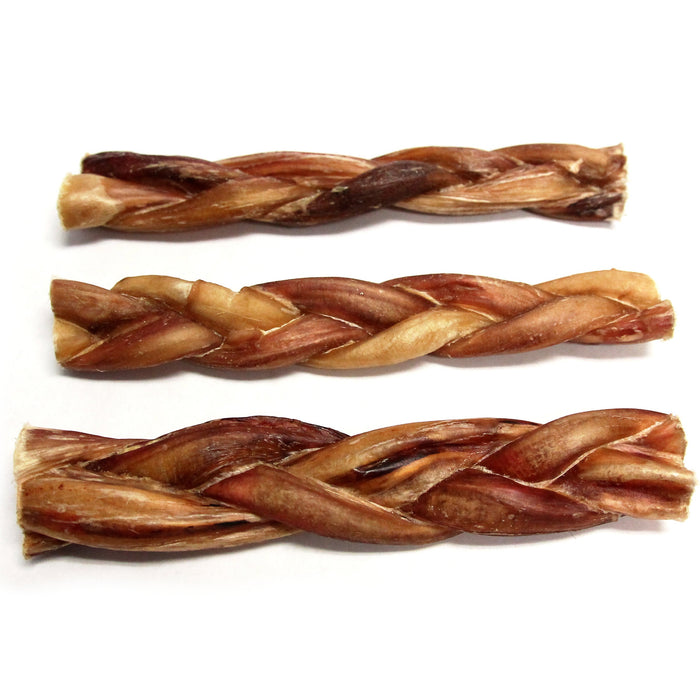 "6"" Braided Bully Stick Odor Free - 8 Pack"