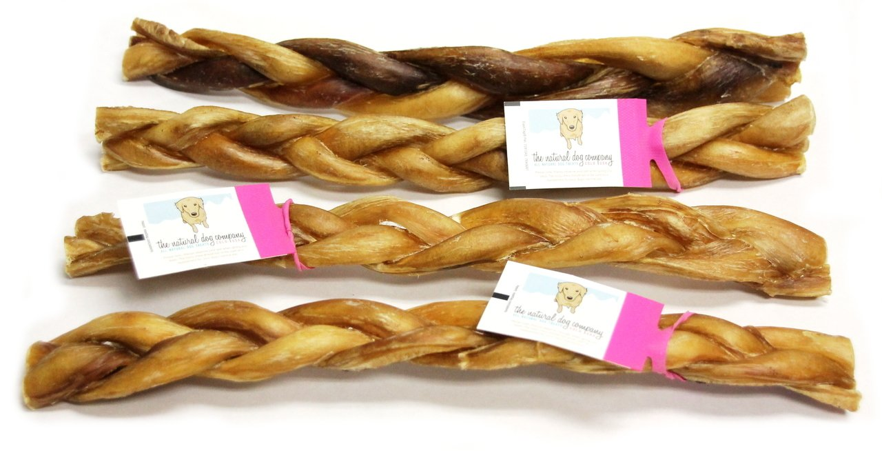 "12"" Braided Bully Sticks - Low Odor"