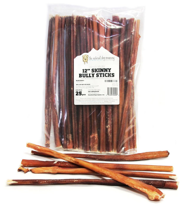 "12"" Skinny Bully Sticks Odor Free"