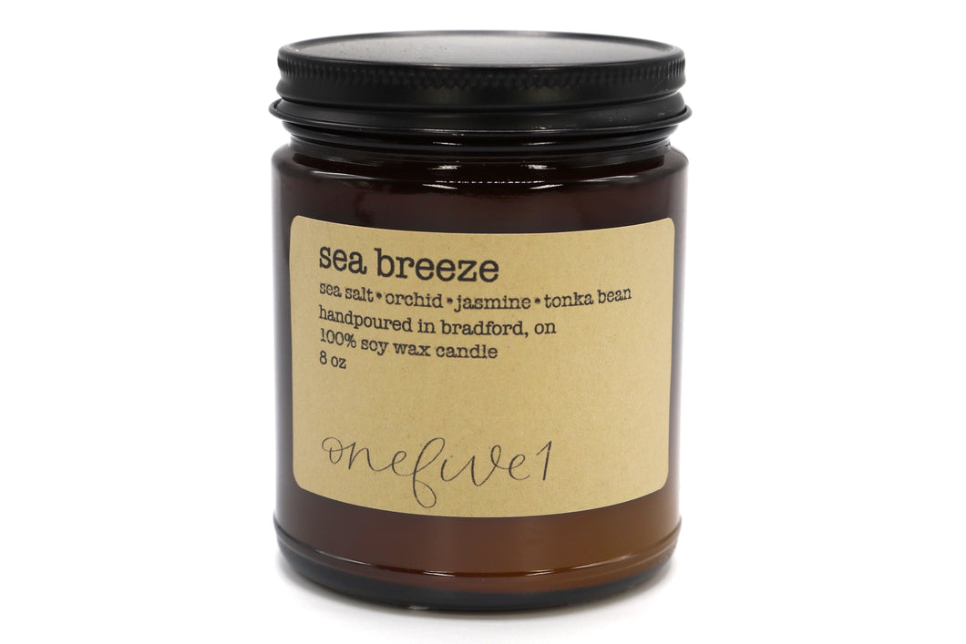 sea breeze soy candle