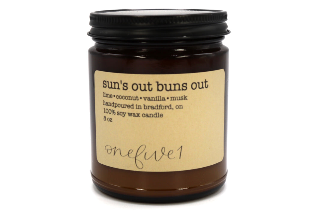 sun's out buns out soy candle