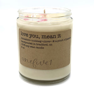 love you, mean it clear jar