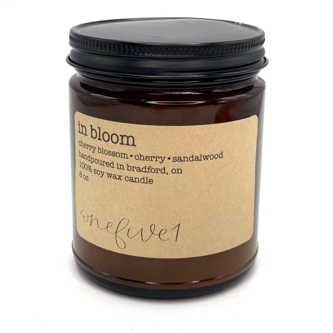 in bloom soy candle
