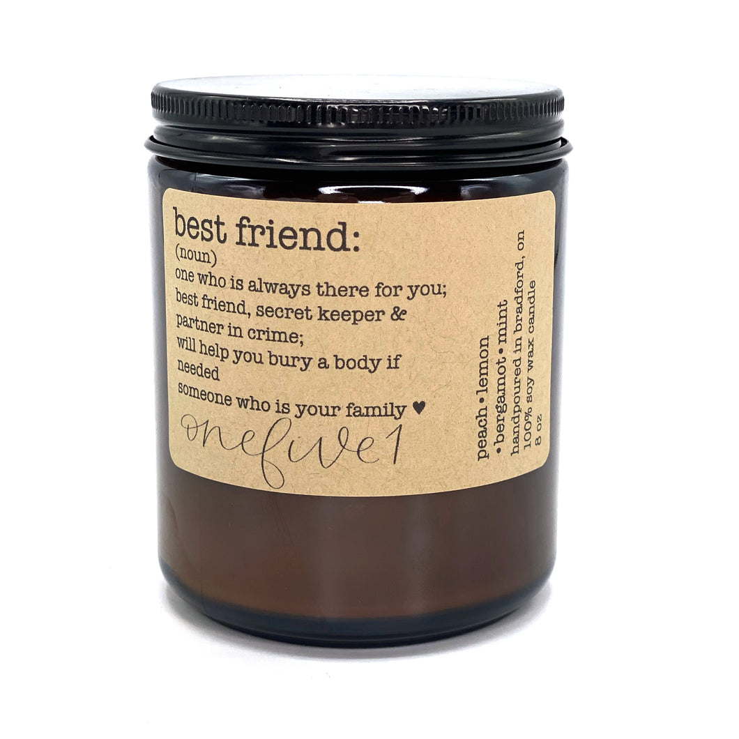 best friend soy candle