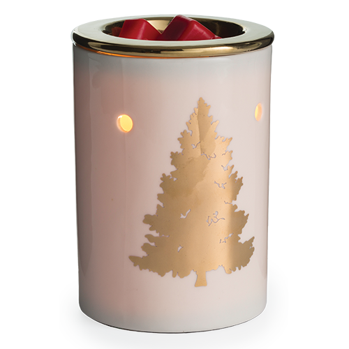 wax melt warmer table top golden tree