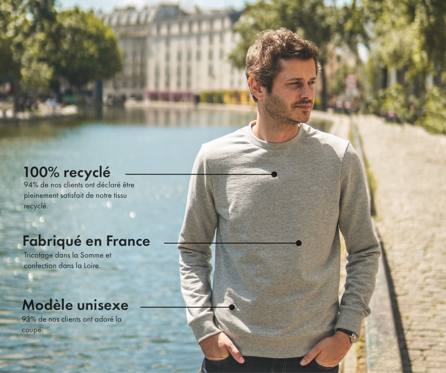 Héro - sweat-shirt 100% recyclé