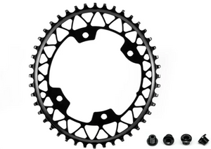 ABSOLUTE BLACK OVAL GRAVELLE 110/4 BCD, 46T BLACK (boulons inclus)
