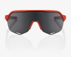 100% S2 Sunglasses, Soft Tact Coral frame - Smoke Lens