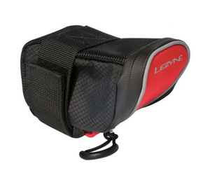 Lezyne, Micro Caddy, sac de selle, 0.4L, noir/ rouge