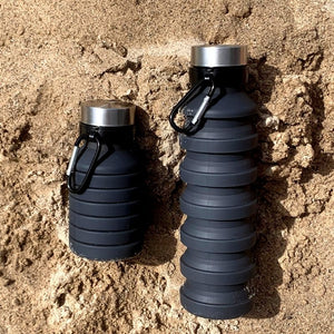 Collapsible water bottle. FDA Food Grade Soft Silicon