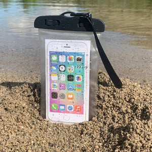 Waterproof Phone case. Holds any phone size. Lanyard included.