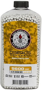 G&G Airsoft Precision 6mm Airsoft BBs .25 Gram 5600 count
