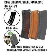 Load image into Gallery viewer, 120rd Original Shell Plum Magazine for AK AEG