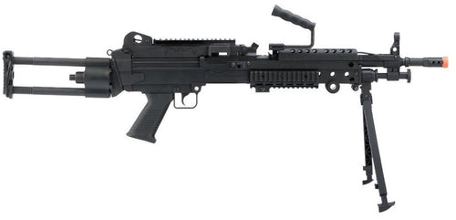 "Cybergun FN Herstal Licensed M249 Para ""Featherweight"" LMG Airsoft Rifle, Black"