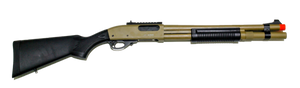 JAG Arms Scattergun HDS Gas Shotgun Airsoft Gun TAN (Extended Tube)