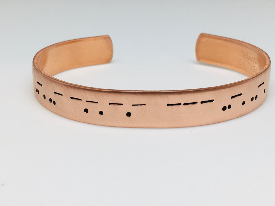 Morse Code *Swear Words* Copper Cuff Bracelet