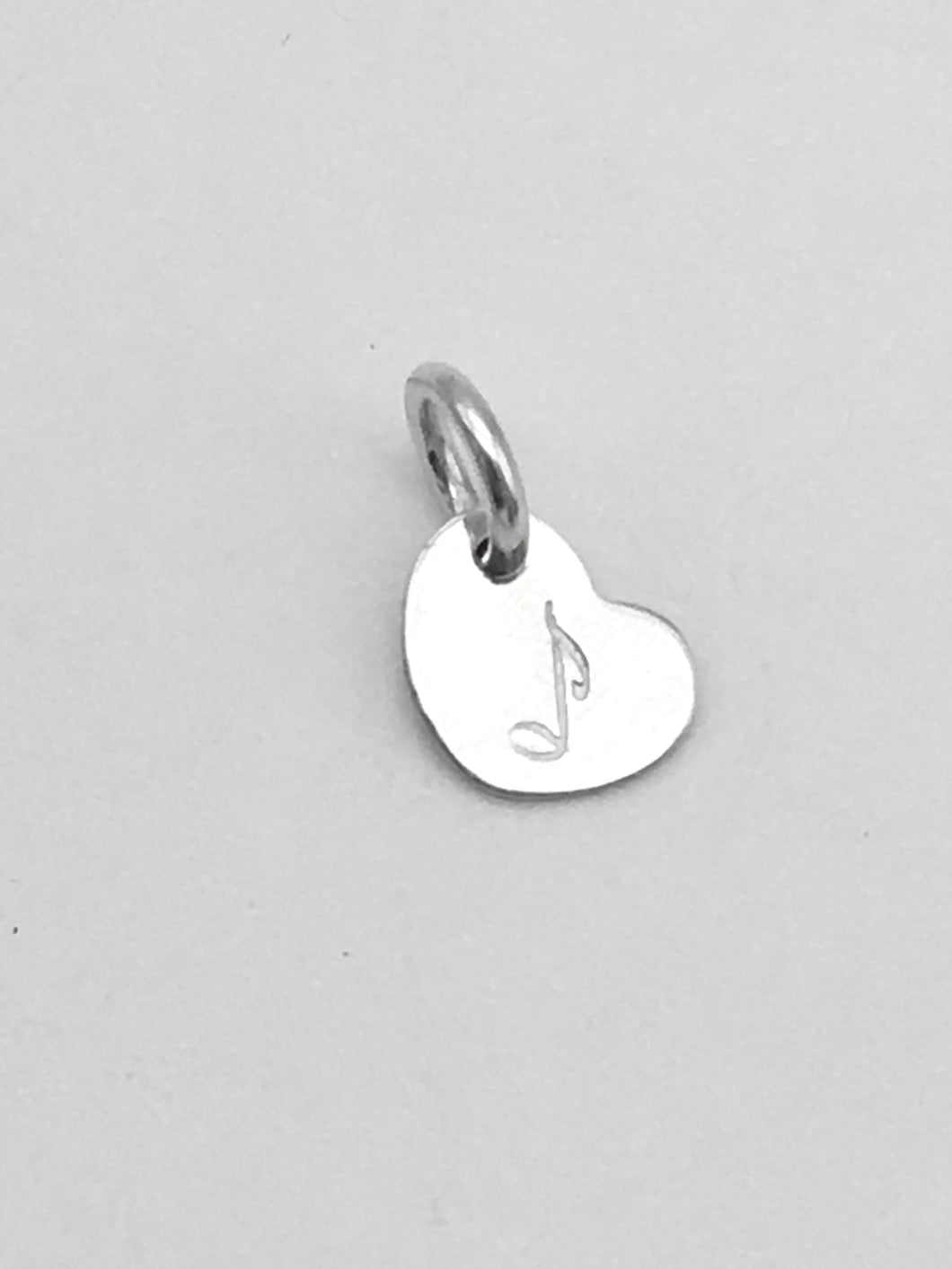 I love Music. Sterling Heart Charm
