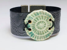 Load image into Gallery viewer, Leather and Ceramic Bracelet