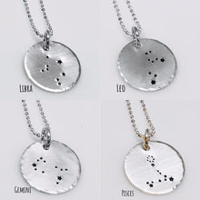 Load image into Gallery viewer, Constellation Zodiac Necklace Sterling Silver