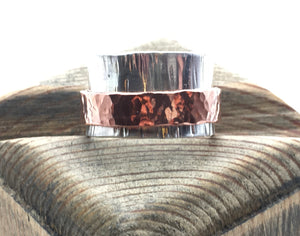 Sterling and Copper Spinner / Fidget Ring