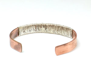 Copper and Sterling Silver cuff