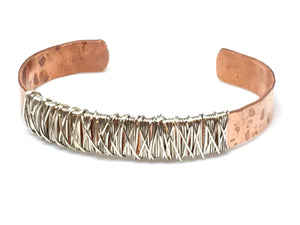 Copper and Sterling Cuff Bracelet