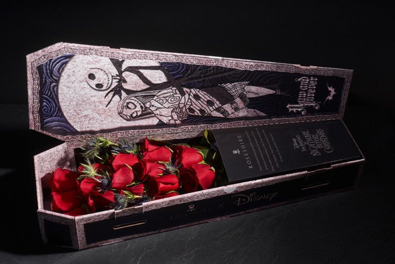 Roseshire x Disney Premium Red Roses in Nightmare Before Christmas Box