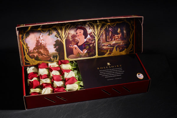 Roseshire x Disney Premium Snow White 2 Dozen Red White Roses