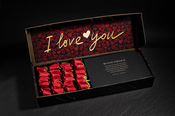 Roseshire Premium Red Roses in 2 Dozen I Love You Box