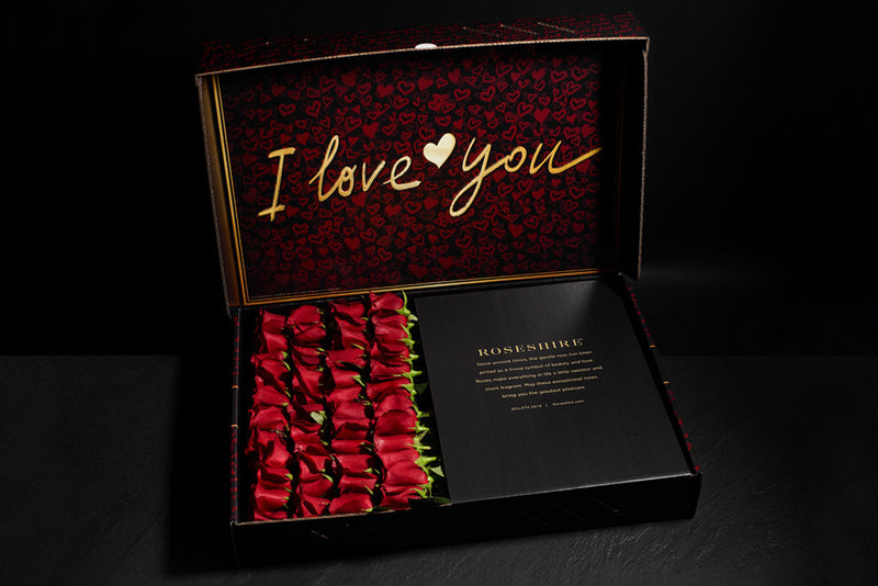 Roseshire Premium Red Roses in 4 Dozen I Love You Box