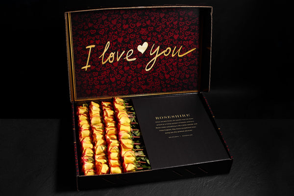 Roseshire Premium Yellow Roses in 4 Dozen I Love You Box