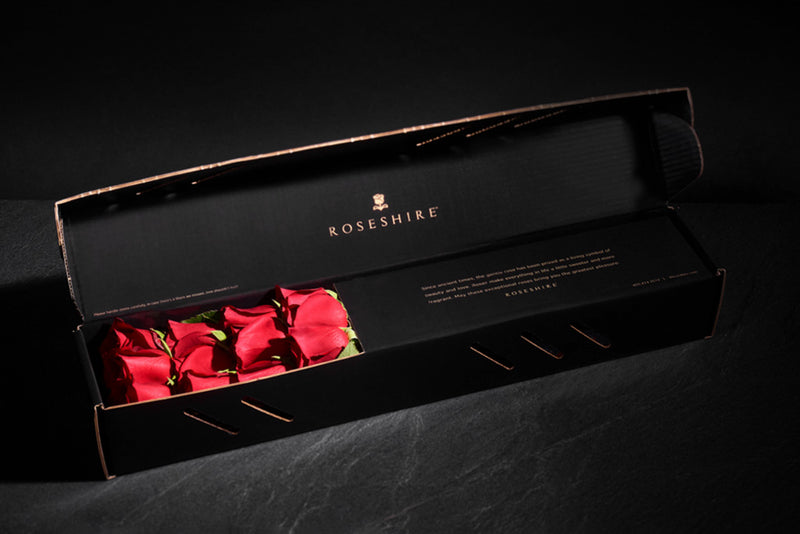 Roseshire Premium Red Roses in 1 Dozen Legendary Box
