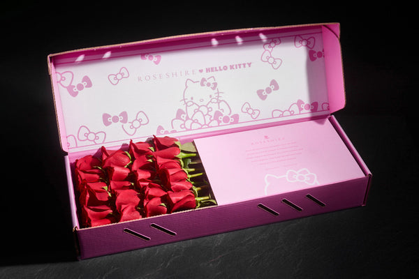 Roseshire x Hello Kitty Premium 2 Dozen Red Roses Box