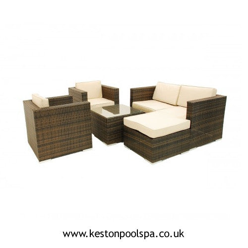 5 Piece Rattan Outdoor Sofa Set