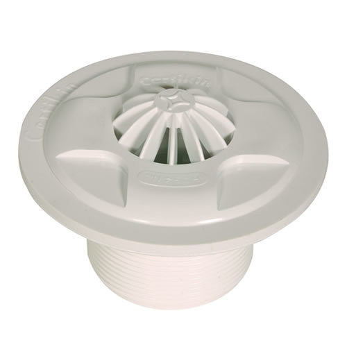 HD 54L - Certikin Fixed Grate Liner Inlet White ABS