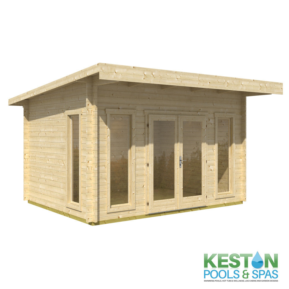 Modern Garden Office II Log Cabin 16.85m2