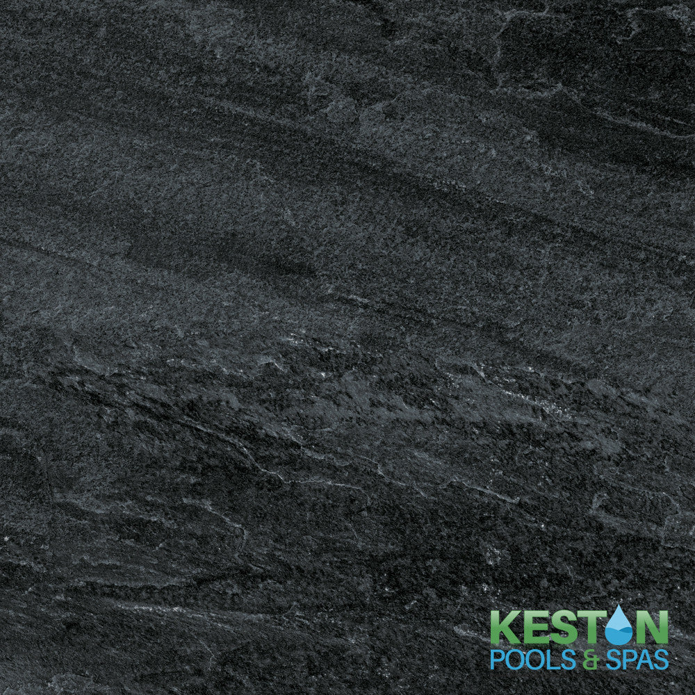 Night Fall (Black Slate from Angola) 20mm Porcelain Stone