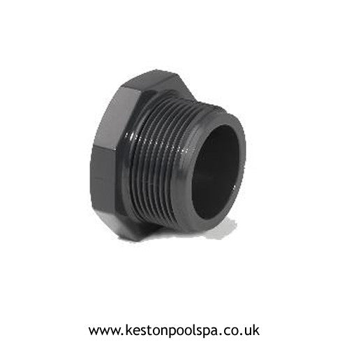 Threaded Plug PVC Grey